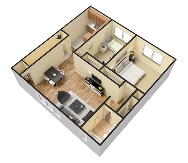 Floor Plans Country Club Apartments For Rent In